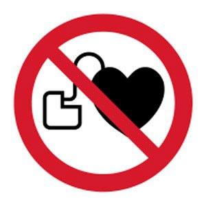 Signalétique magnétique interdit dispositif cardiaque magnetique