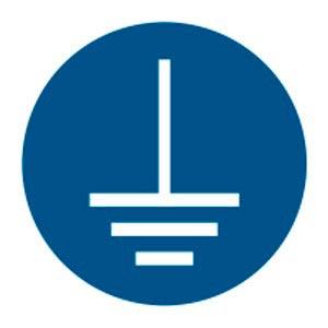 Fiche produit : Signalétique magnétique obligation connecter à la terre