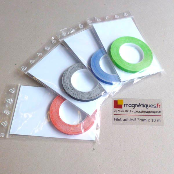 Filet adhésif vert 3mm  magnetique