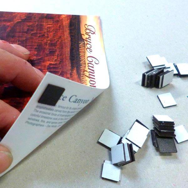 Lots de 50 sticks magnétiques adhésifs 1cm x 1cm magnetique