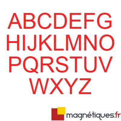 Lettres à l'unité découpées 5cm ROUGE magnetique