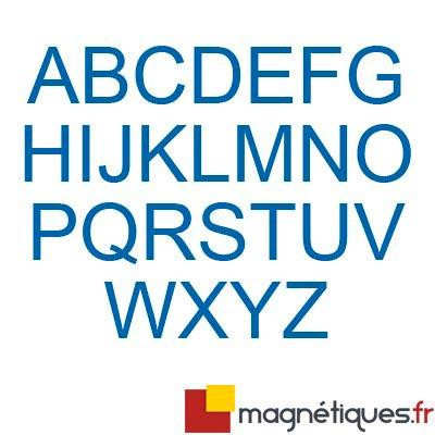 Lettres à l'unité découpées 5cm BLEU magnetique