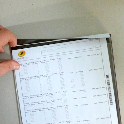 Porte document magnétique de table magnetique