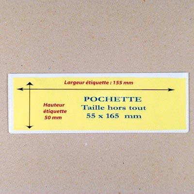 Pochette magnétique Hauteur 165mm Aimants néodymes