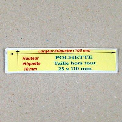 Pochette magnétique 25mm x 110mm Aimants néodymes