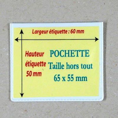 Pochettes magnétiques  65 X55 mm Aimants néodymes