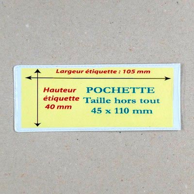 Pochette magnetique 45mm x 110mm magnetique