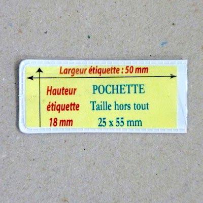 Pochette magnétique 25mm x 55mm Aimants néodymes