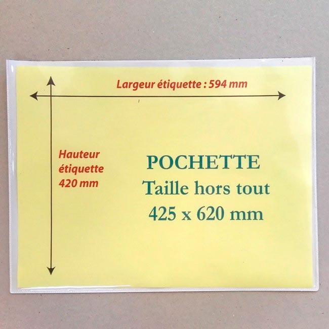 Pochette magnétique A2 425mm x 620mm Aimants néodymes