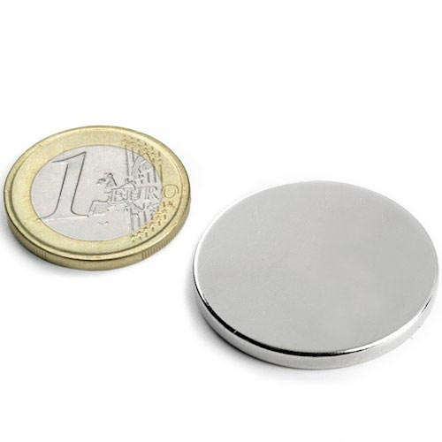 Aimant brut diametre 30mm x 3mm magnetique
