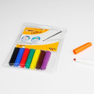 Marqueur BIC Velleda pointe moyenne 8 couleurs Aimants néodymes