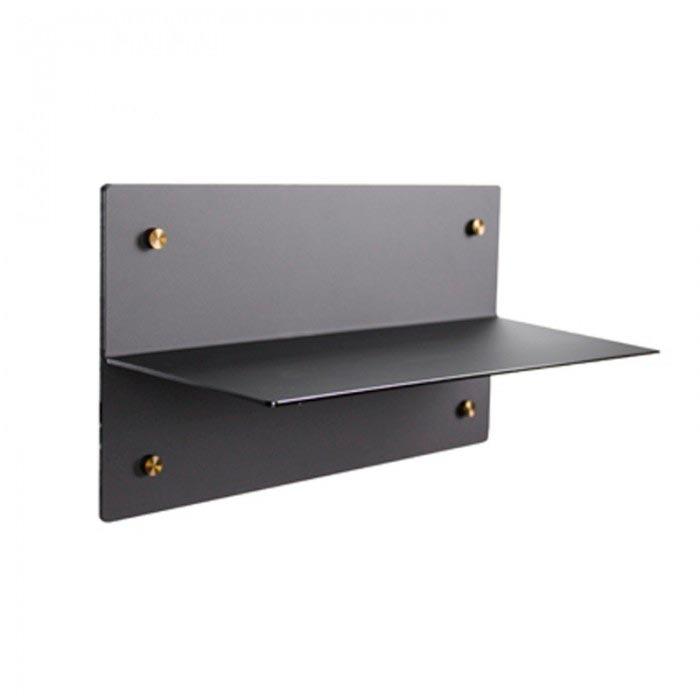 Etagère magnétique plexi Noir Mate 350 mm Aimants néodymes