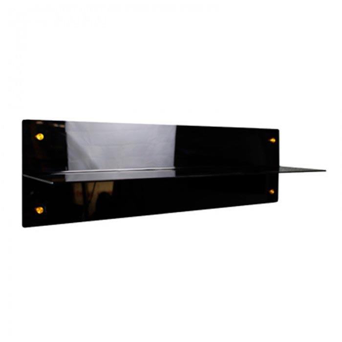 Etagère magnétique plexi Noir Brillant 700 mm Aimants néodymes