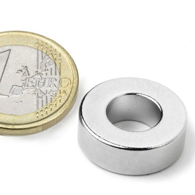 Aimant brut torique 19.1mm x 9.5mm x 6.4mm magnetique