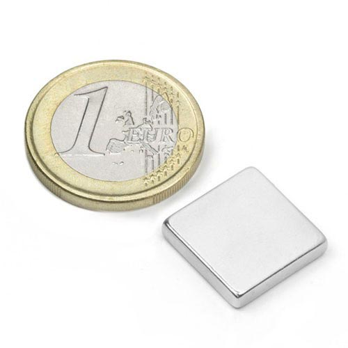 Aimant brut 15mm x 15mm x 3mm magnetique