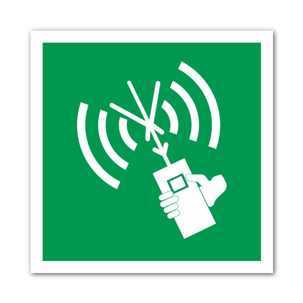 Sticker Appareil radio-téléphonique 100X100mm magnetique