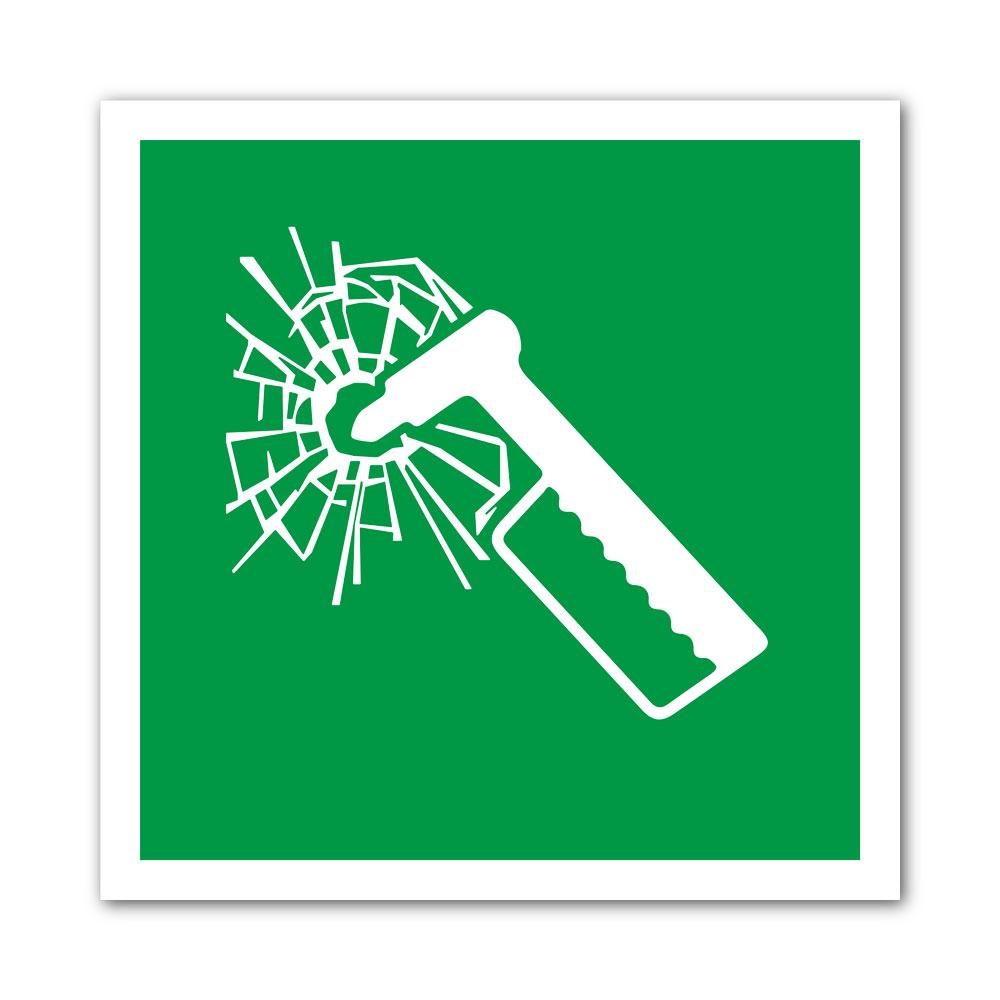 Sticker Brise vitre 100X100mm magnetique