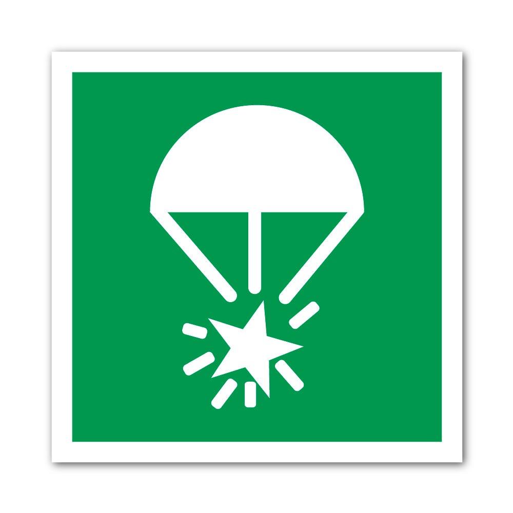 Sticker Fusée éclairante pour parachute 100X100mm magnetique