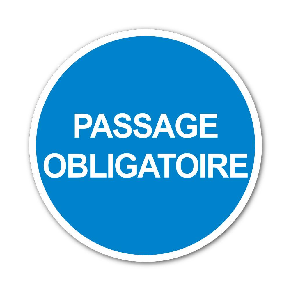 Sticker Passage obligatoire 100X100mm magnetique