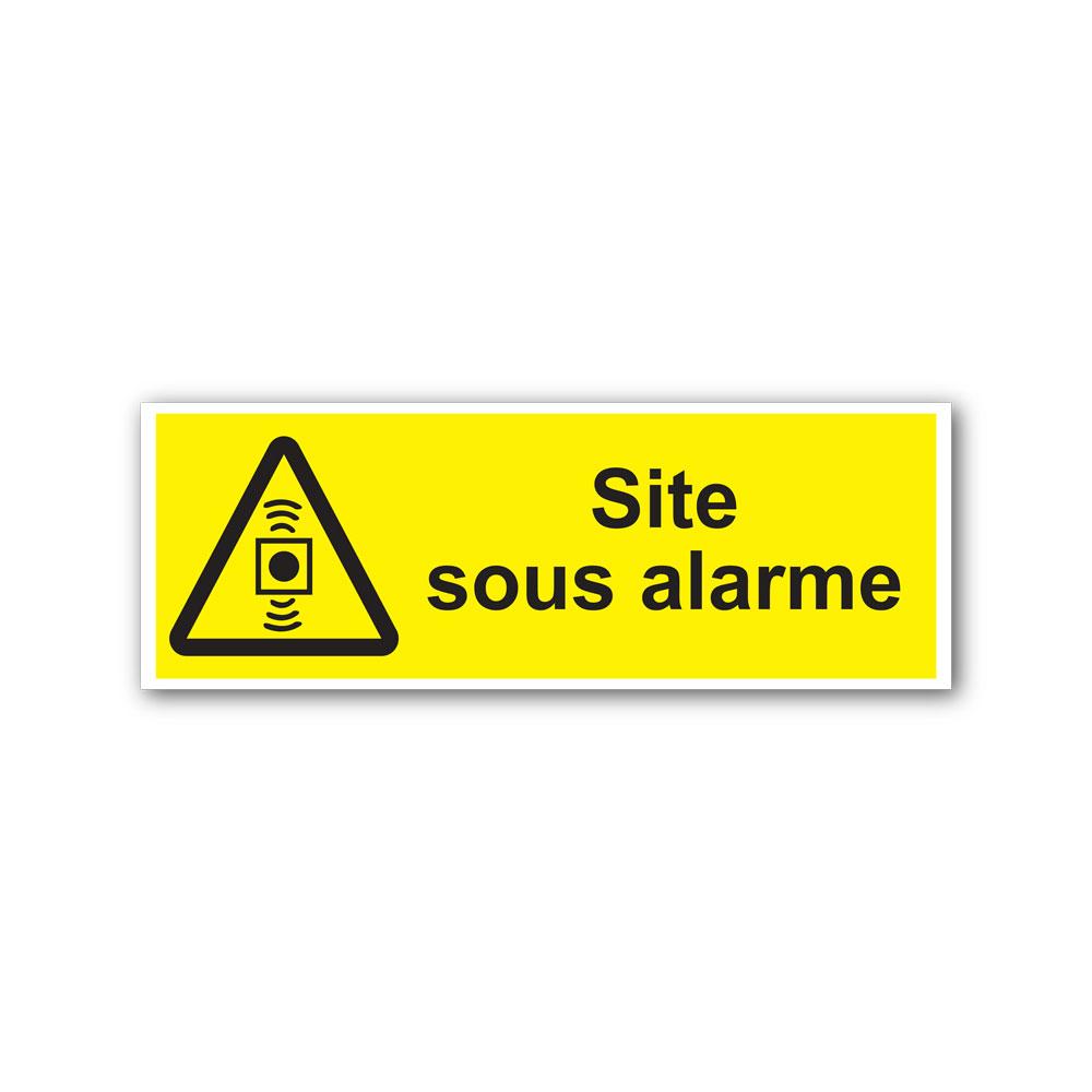 Sticker Site sous alarme 105X297mm magnetique