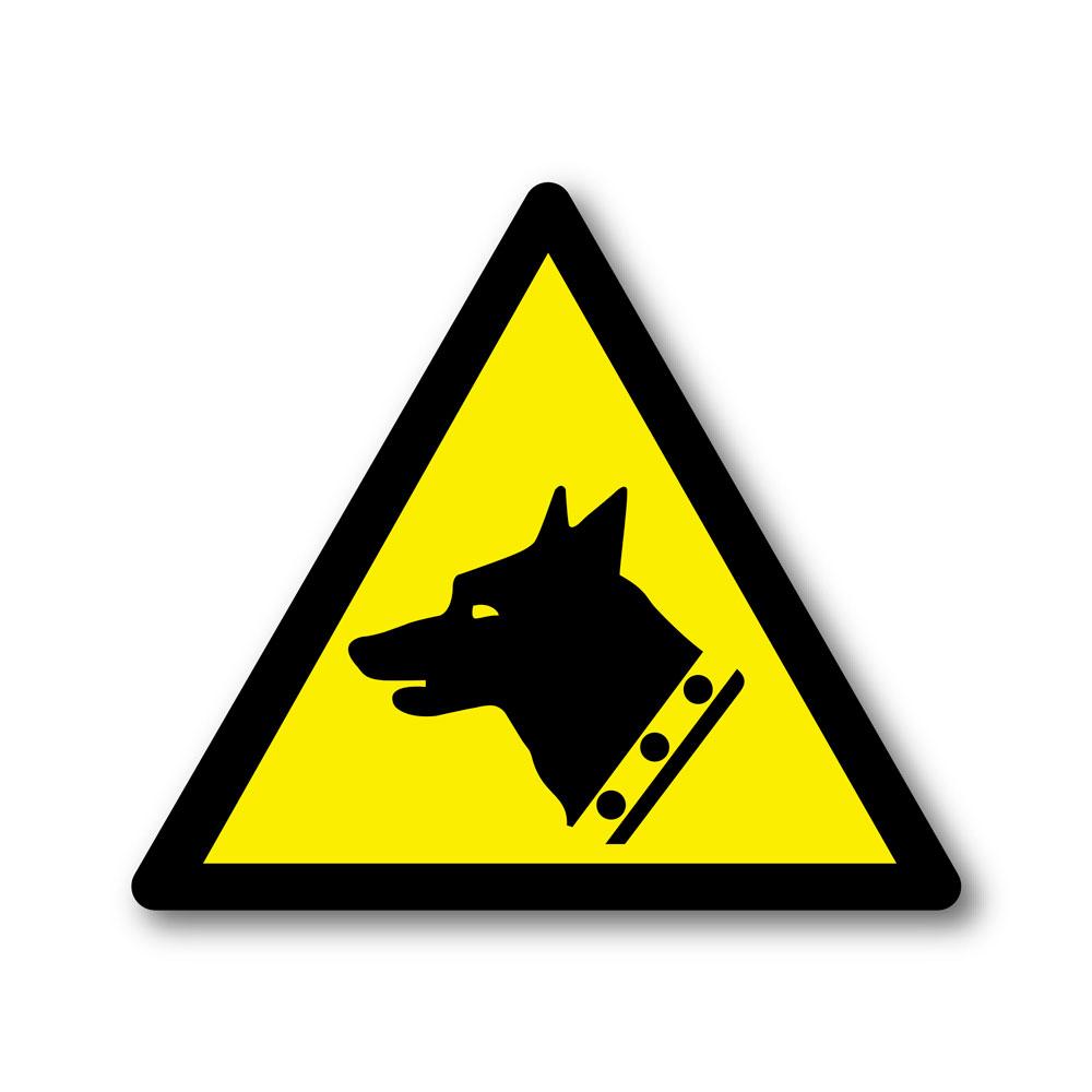Sticker Danger chien de garde 100X100mm magnetique