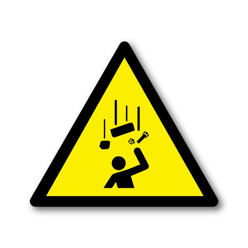Sticker Danger chute d'objets 100X100mm magnetique