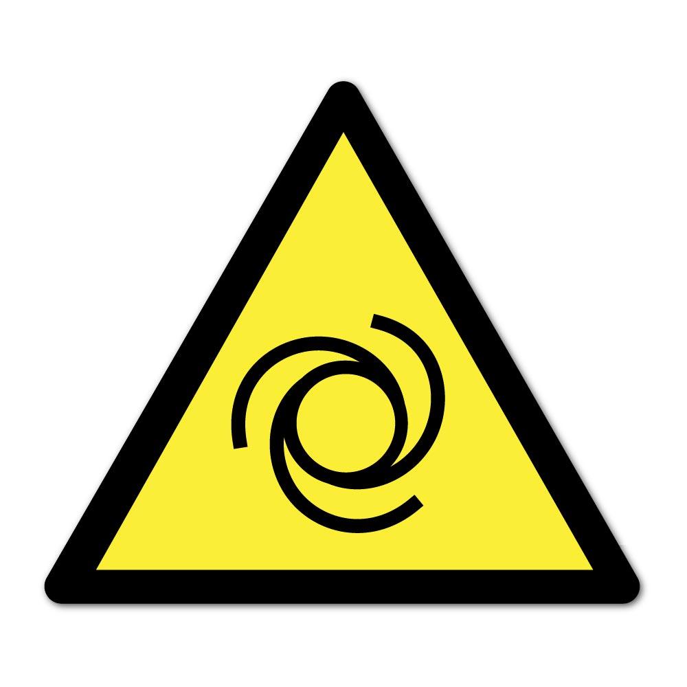 Sticker Attention démarrage automatique 100X100mm magnetique