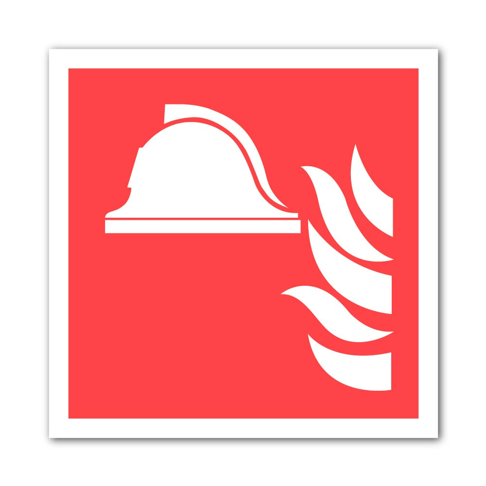 Sticker Casque de pompier 100X100mm magnetique
