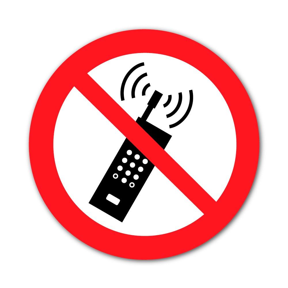 Sticker Interdiction d'Allumer son téléphone 100X100mm magnetique