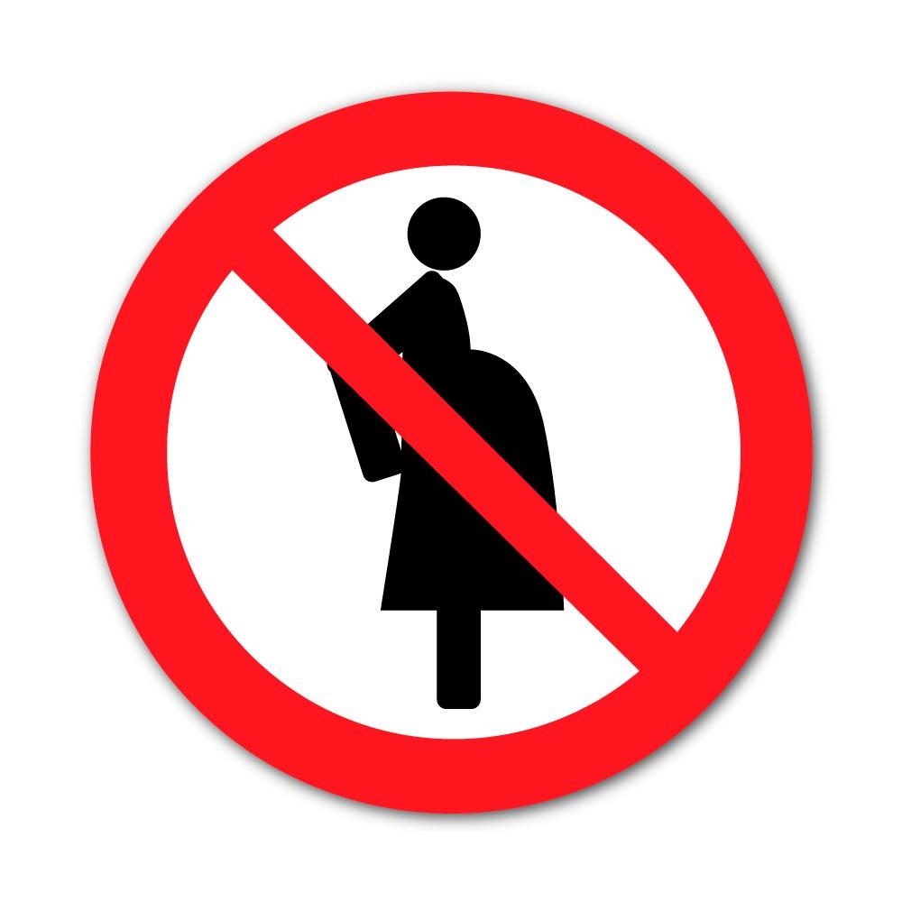 Sticker Interdiction aux Femmes enceintes 100X100mm magnetique