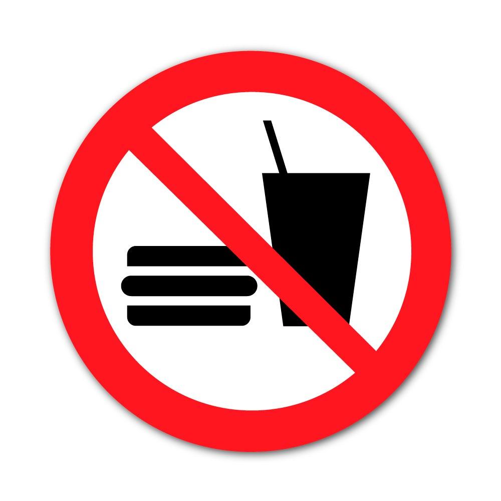 Sticker Interdiction de Manger ou boire 100X100mm magnetique