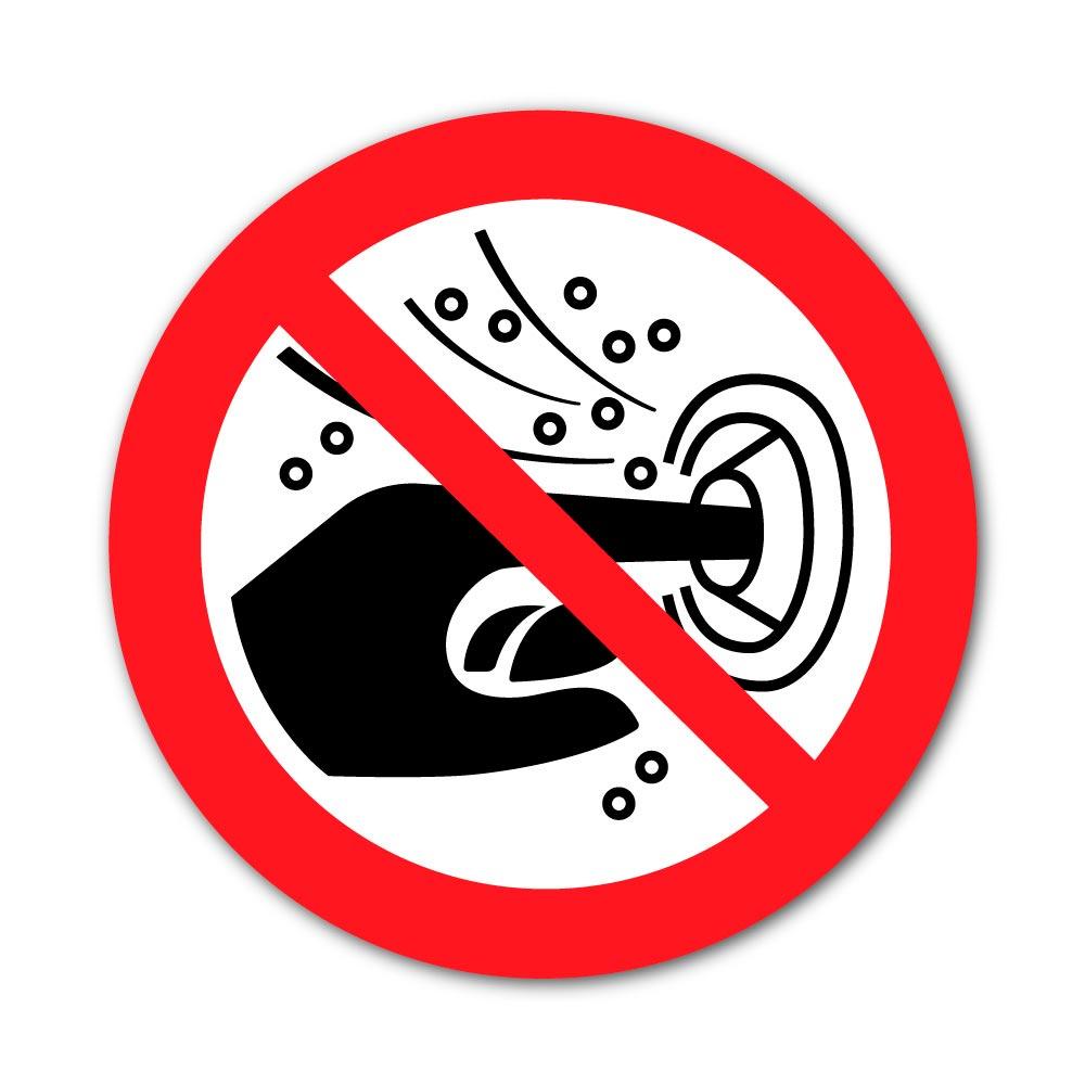Sticker Interdiction de Mettre les doigts dans la buse d'un hydromasseur 100X100mm magnetique