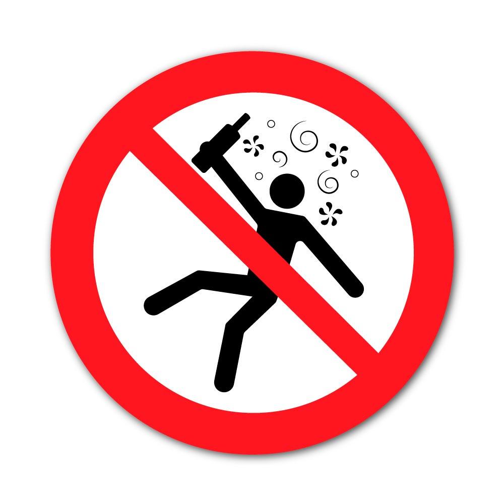 Sticker Interdiction aux Personnes en état d'ivresse 100X100mm magnetique