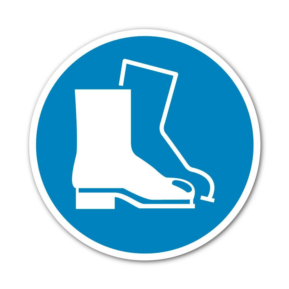 Sticker Chaussures de sécurité obligatoires 100X100mm magnetique