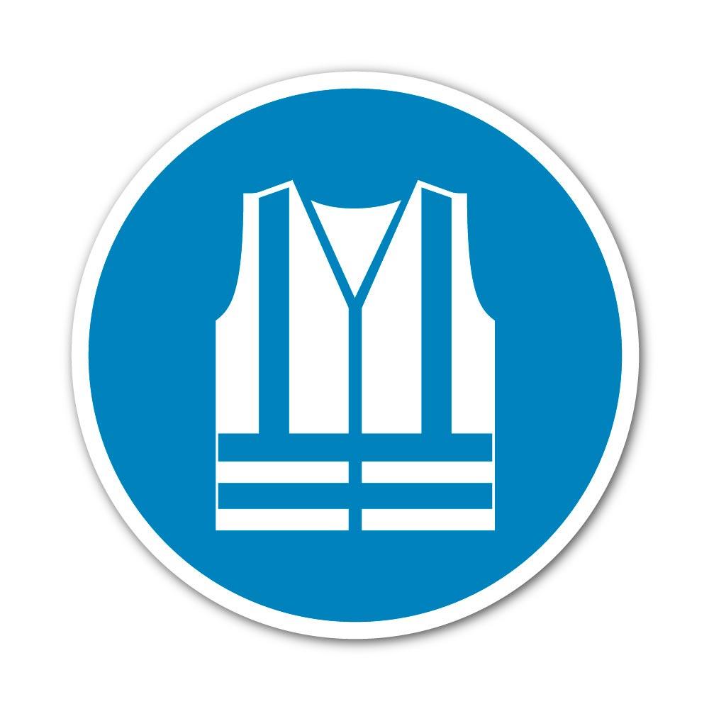 Sticker Vêtements à haute visibilité obligatoires 100X100mm magnetique