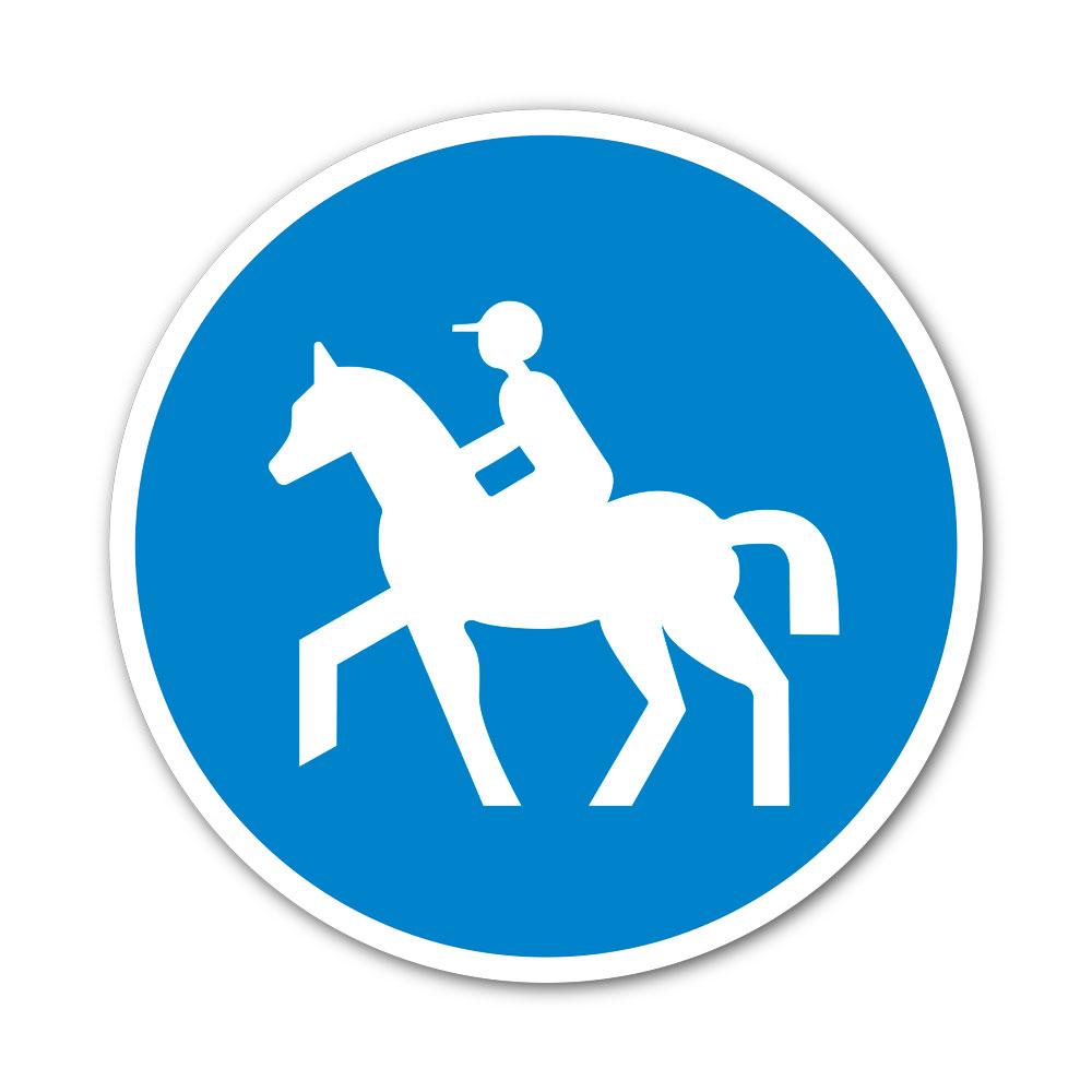 Sticker Passage obligatoire pour cavaliers 100X100mm magnetique