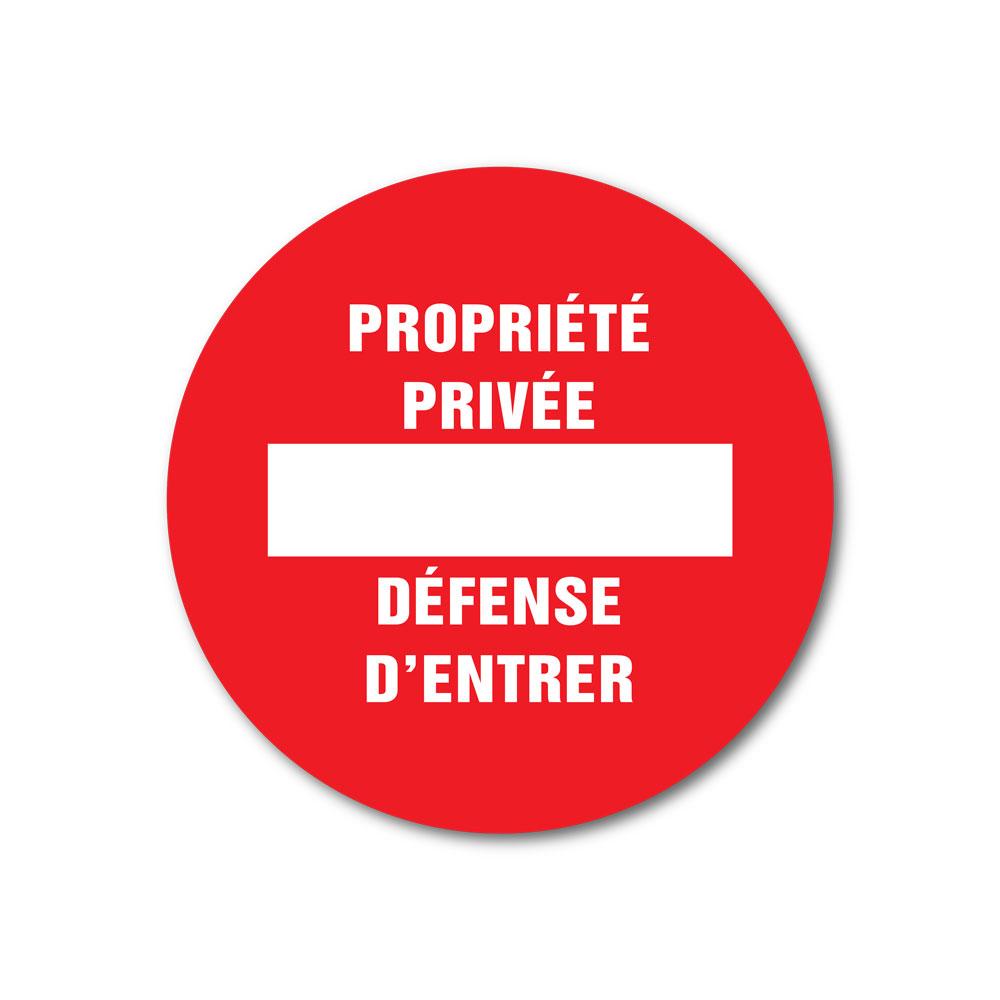 Sticker Propriété privée défense d'entrer 100X100mm magnetique