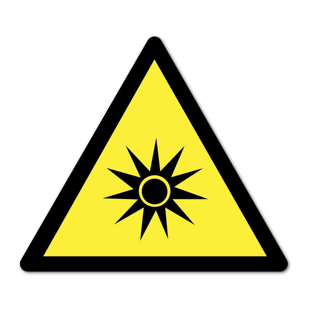 Sticker Danger Radiation optique 100X100mm magnetique